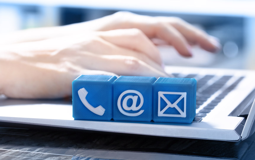 Pressekontakt per Mail oder Telefon